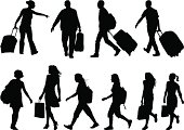 traveling and shopping bags
