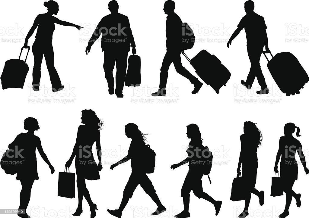 Bags vector art illustration