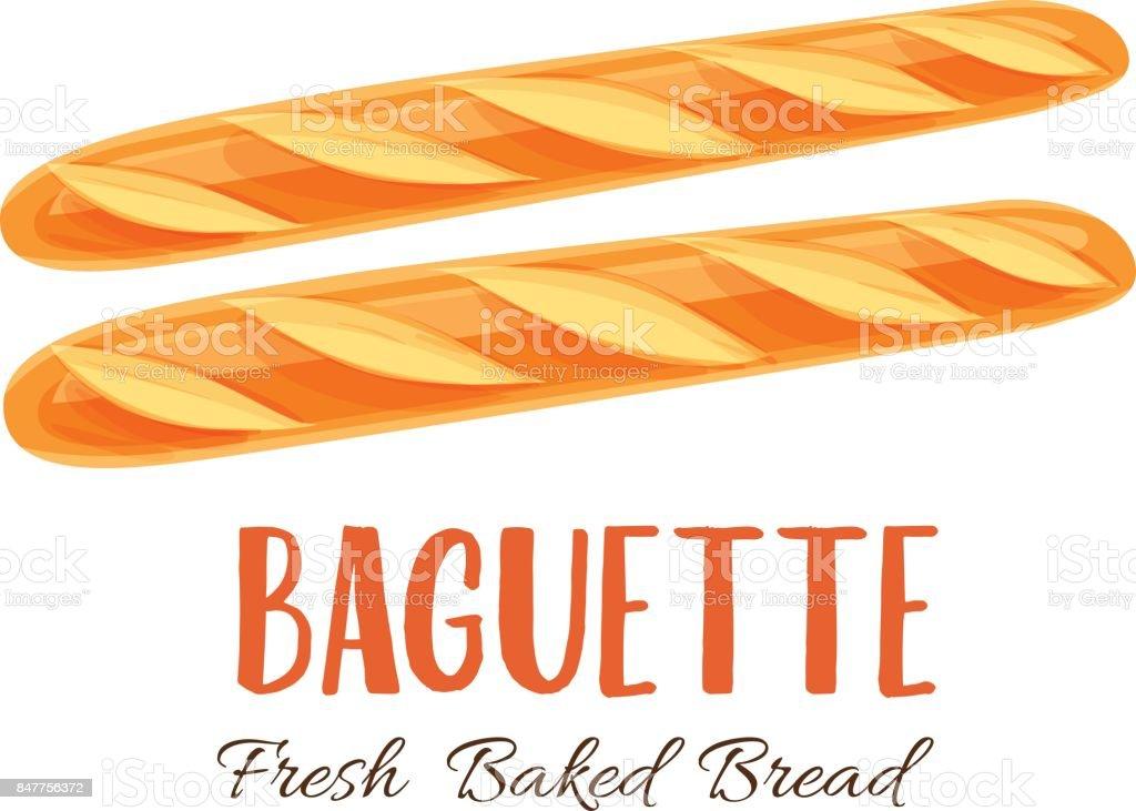 Icône de pain baguette - Illustration vectorielle