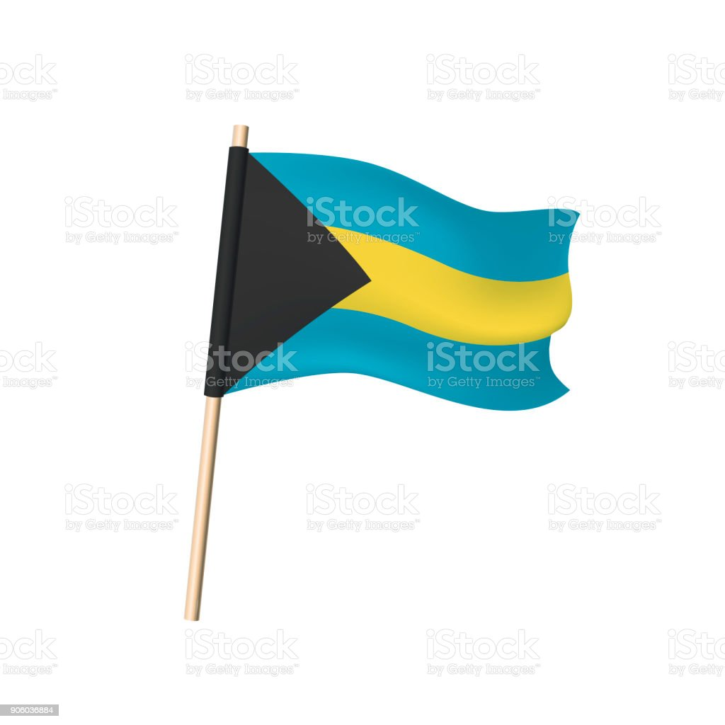 Bahamas flag black triangle blue and yellow stripes stock vector black triangle blue and yellow stripes royalty free bahamas flag black biocorpaavc Image collections