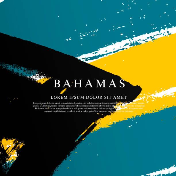 Bahamas Flagge. Vektor-Illustration auf weißem Hintergrund – Vektorgrafik