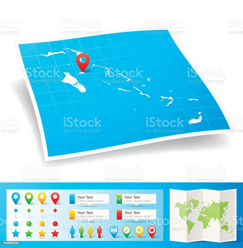 Picture of: Bahamas Map With Location Pins Isolated On White Background Stock Illustration Download Image Now Istock