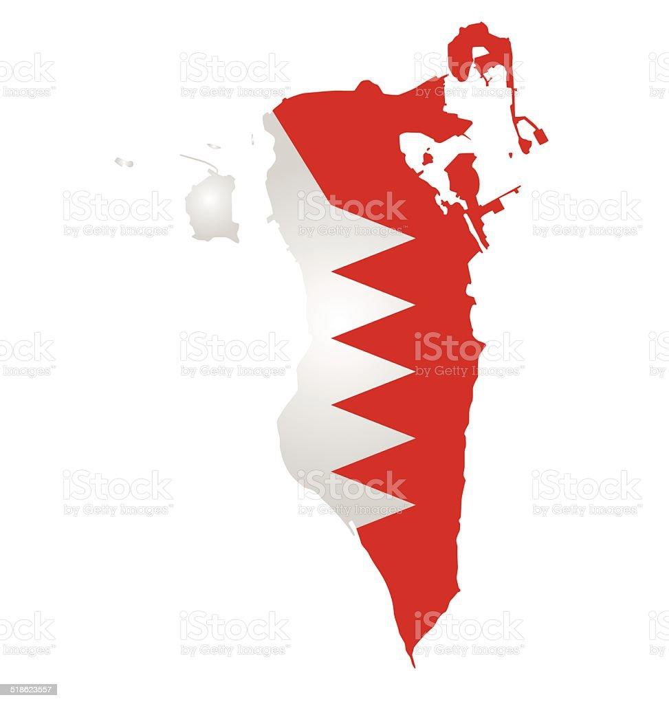 Bahrain Flag vector art illustration