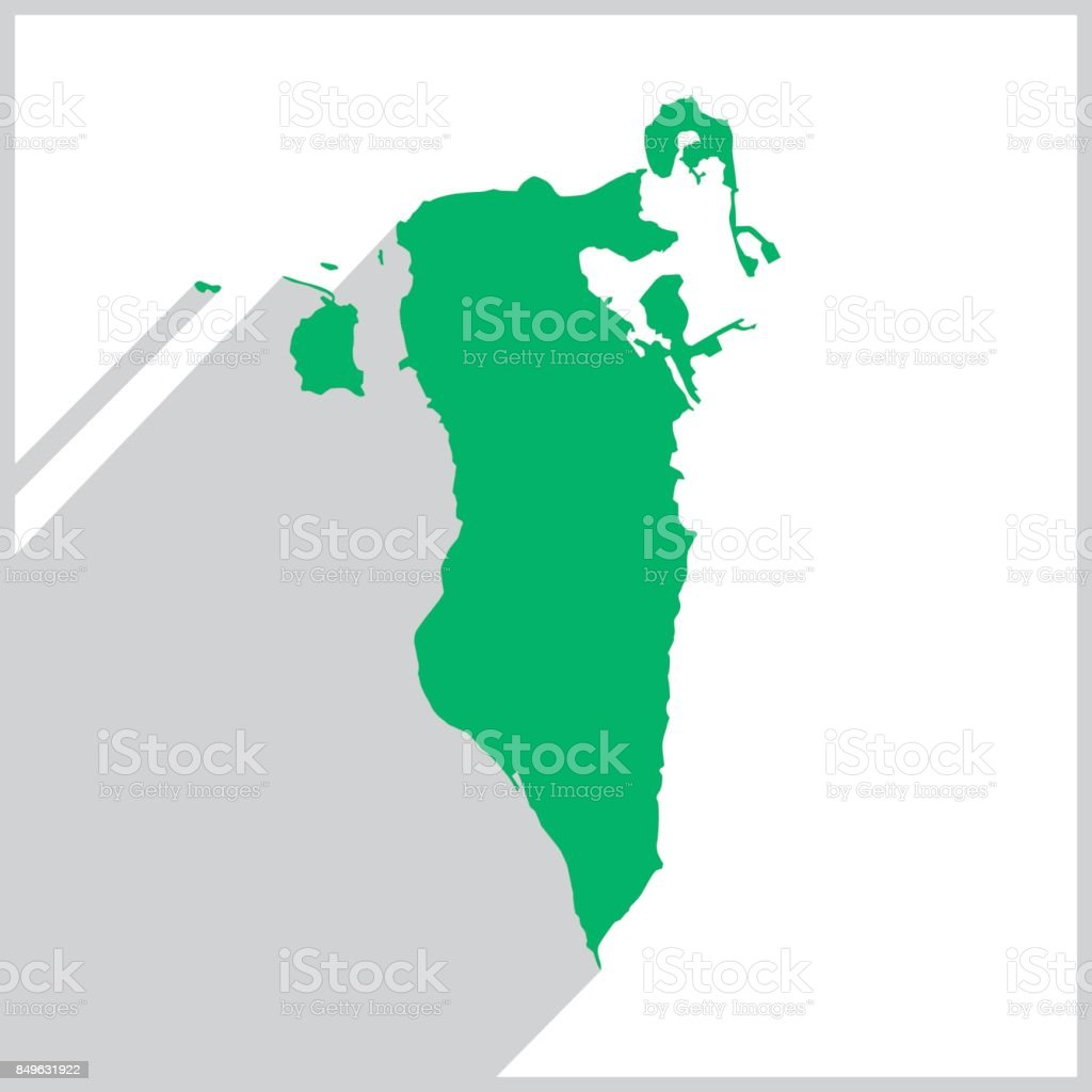 Bahrain Green Map Icon vector art illustration