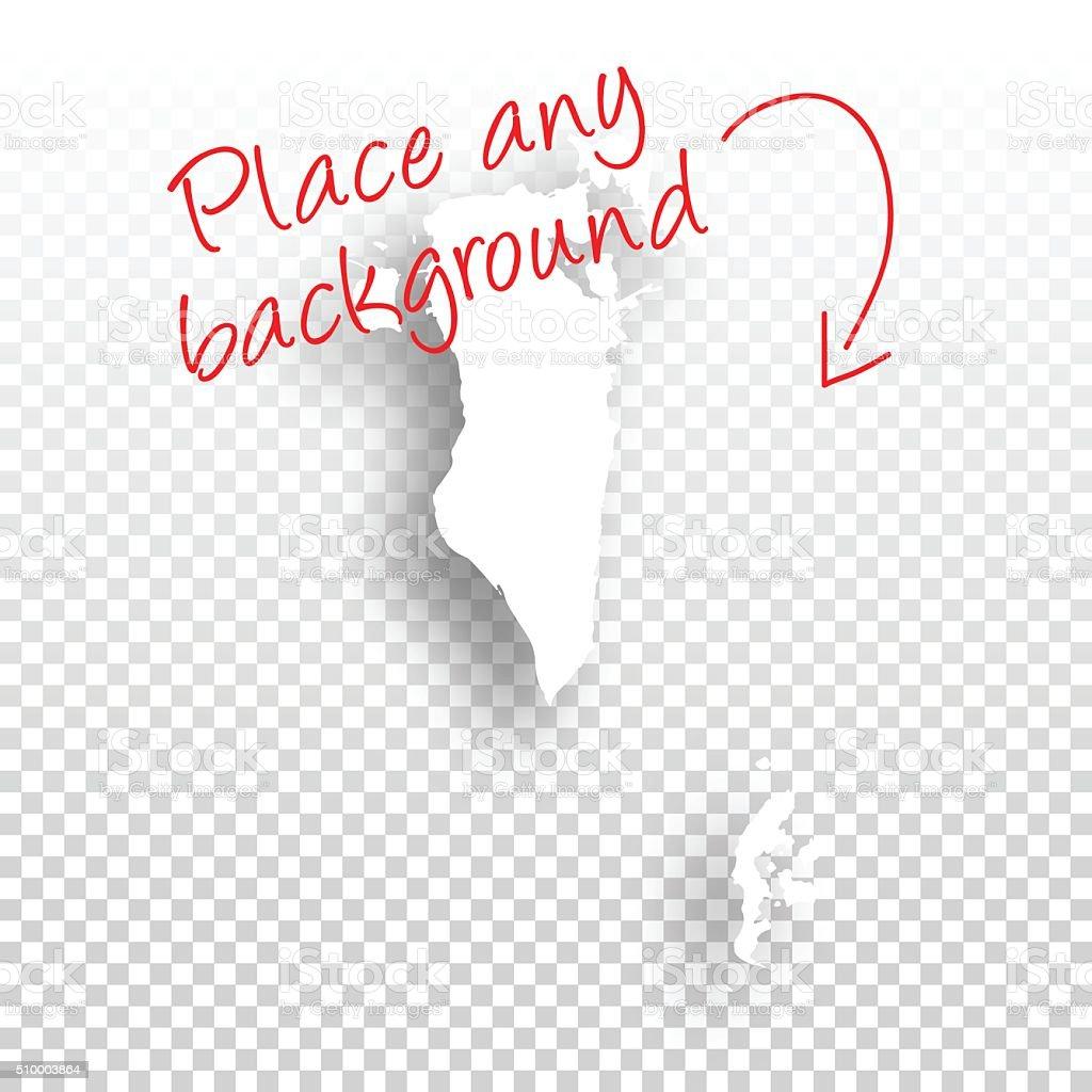 Bahrain Map for design - Blank Background vector art illustration