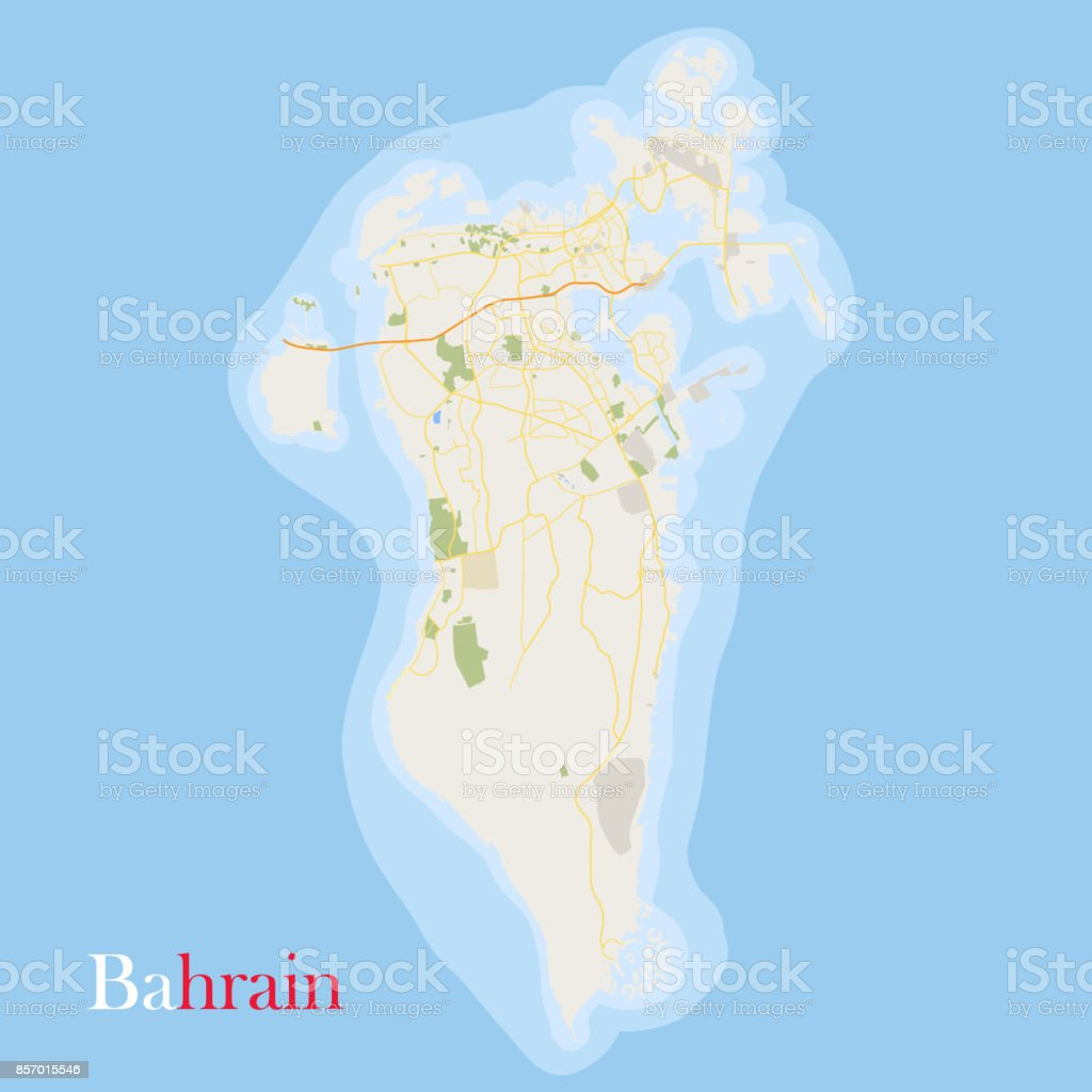 Bahrain Map Stock Vector Art & More Images of Art 857015546 | iStock