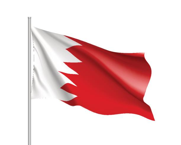 Royalty Free Bahrain Flag Clip Art Vector Images Illustrations - Bahrain flags