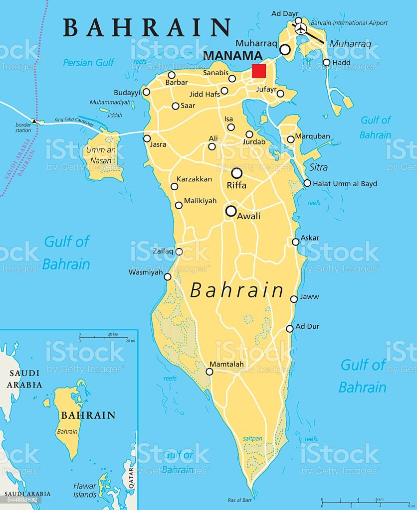 Bahrain political map stock vector art more images of ar rifa bahrain political map royalty free bahrain political map stock vector art amp more images gumiabroncs