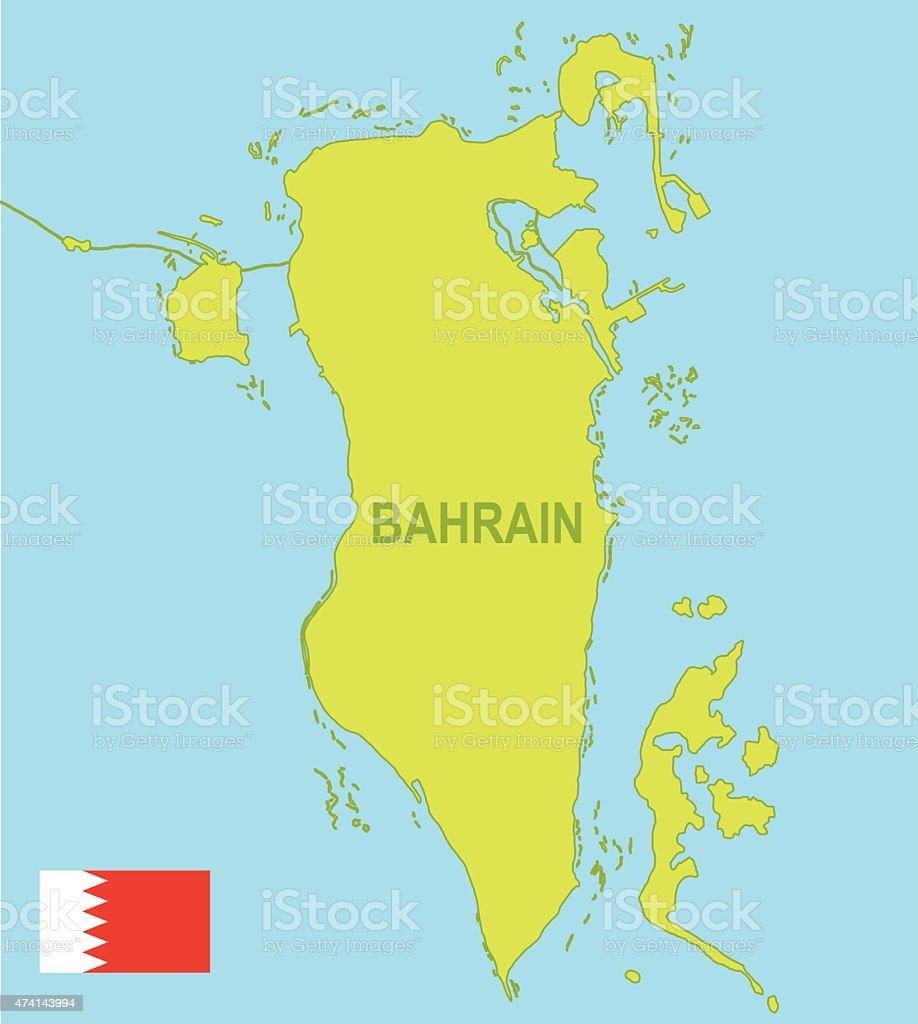 Bahrain vector art illustration