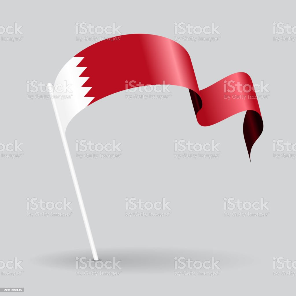 Bahrain wavy flag. Vector illustration. vector art illustration