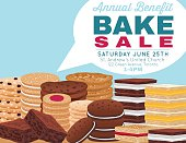 Bake sale poster template With Cookies Brownies and Bars