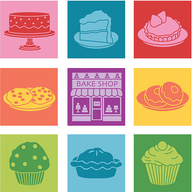 bake shop vector art illustration