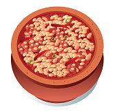 Vector Baked beans