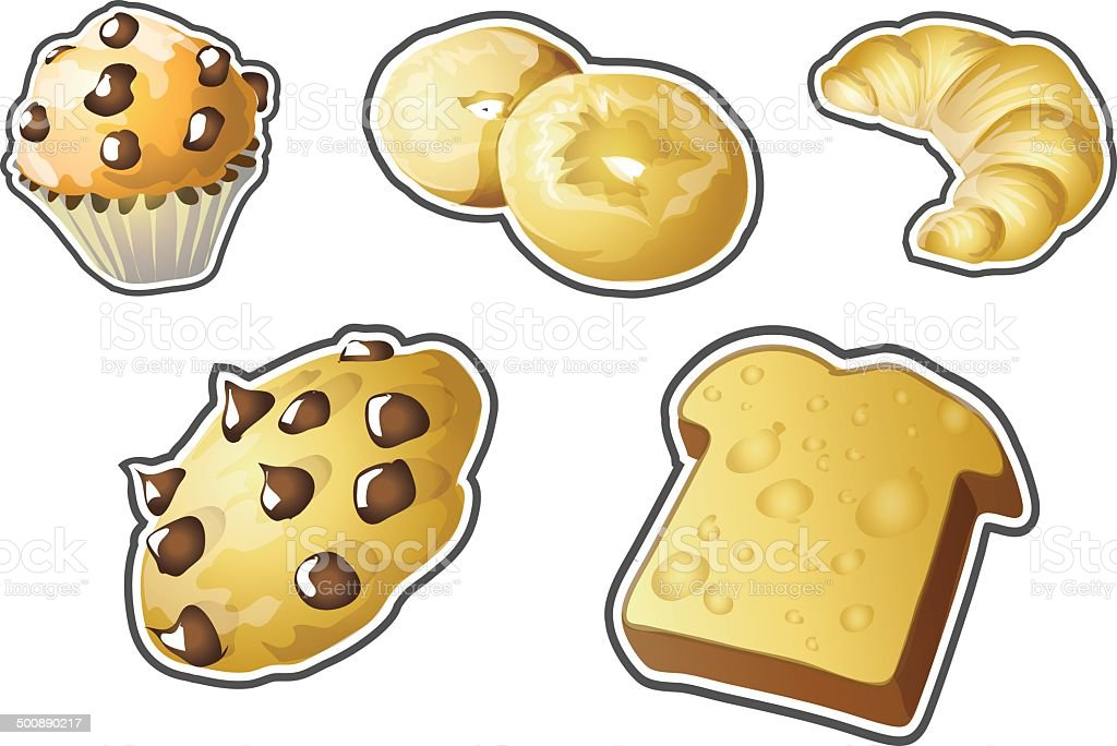Baked Goods Illustrations vector art illustration