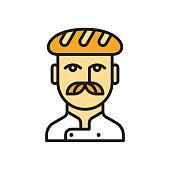 istock Baker line icon 1308414723