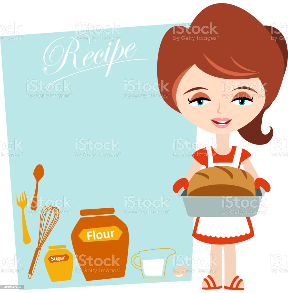 Baker's Recipe vector art illustration