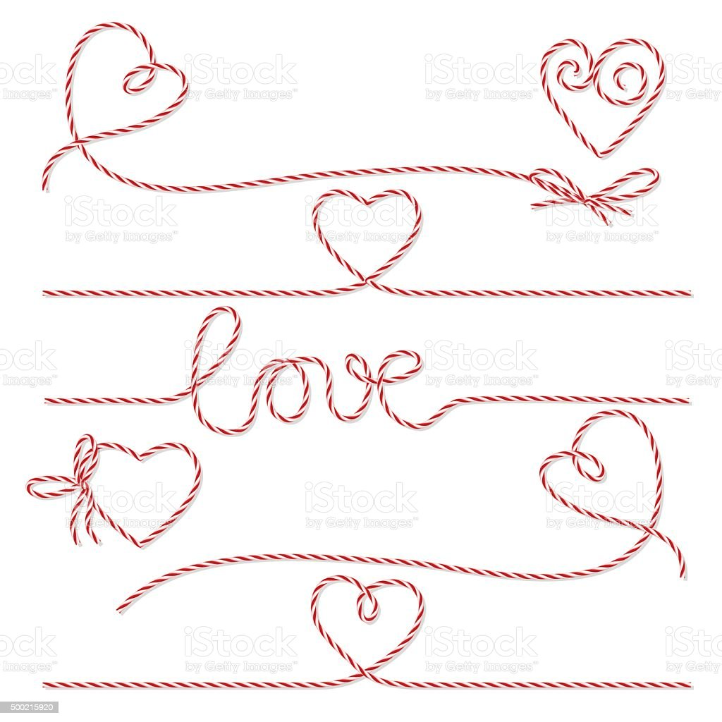 Bakers twine romantic set vector art illustration
