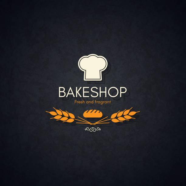 stockillustraties, clipart, cartoons en iconen met bakkerij en brood winkel-logo - bakery
