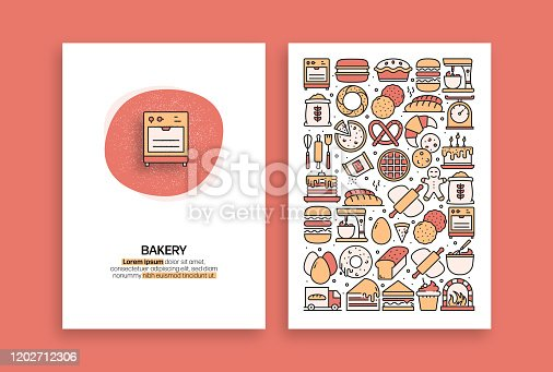 istock Bakery and Patisserie Related Design. Modern Vector Templates for Brochure, Cover, Flyer and Annual Report. 1202712306