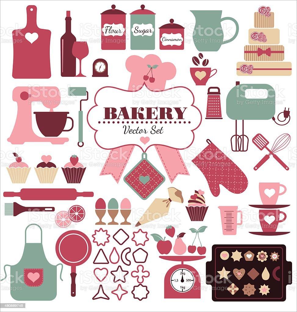Bakery background. vector art illustration