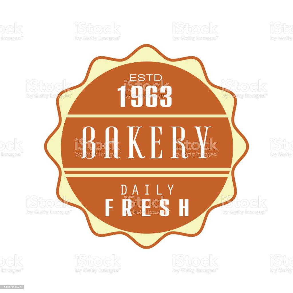 bakery daily fresh template estd 1963 bread shop badge retro food