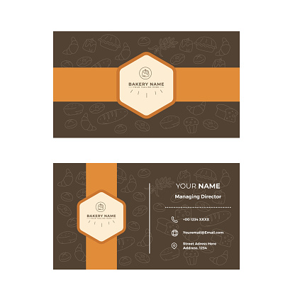 Bakery Double sided Business card Design