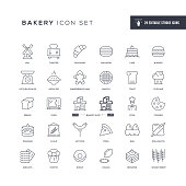 29 Bakery Icons - Editable Stroke - Easy to edit and customize - You can easily customize the stroke with
