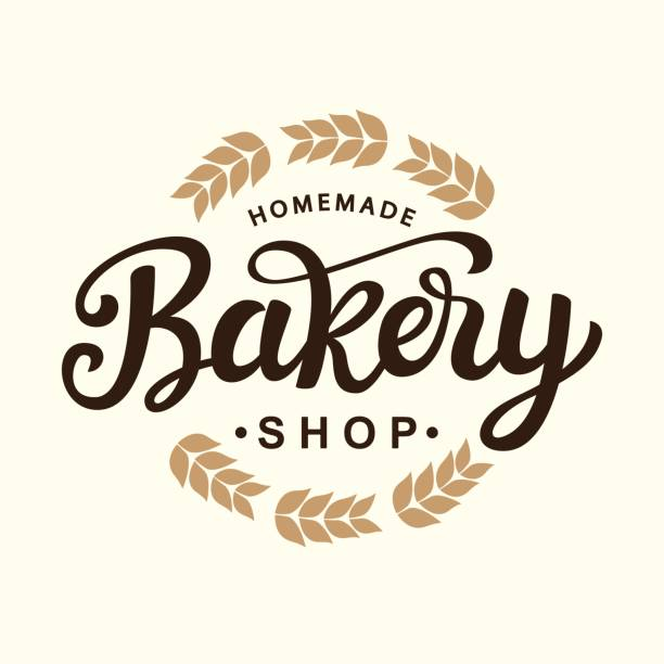 bakery emblem template design - bakeries stock illustrations, clip art, cartoons, & icons