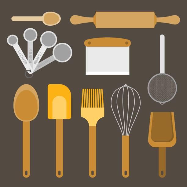 bakery equipment and utensils – artystyczna grafika wektorowa