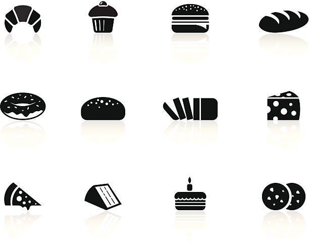 Bakery foods icons /file_thumbview_approve.php?size=1&id=16361035 bread icons stock illustrations