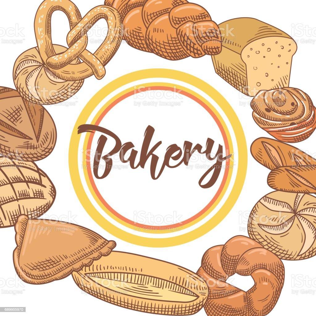 パン屋さんの手描きの背景にパンパン いたずら書きのベクターアート素材や画像を多数ご用意 Istock