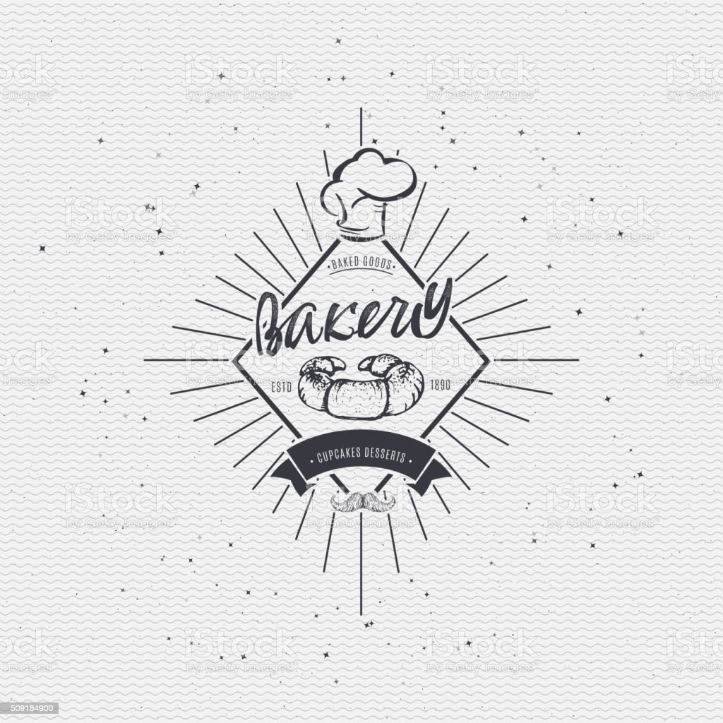 Bakery. Handwritten inscription. Hand drawn calligraphy lettering  typography badge. It vector art illustration