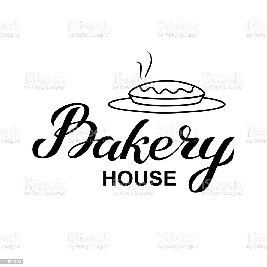 Backhaus Logokarte Typografie Handgezeichnete Vektordarstellung