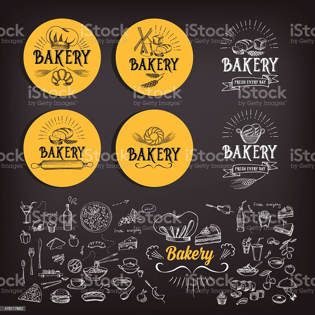Bakery icon design. vector art illustration