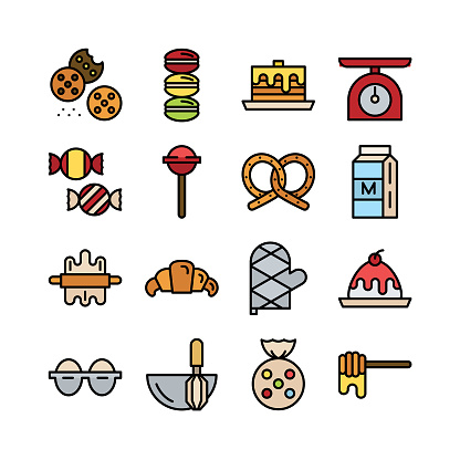 Bakery icon set 02