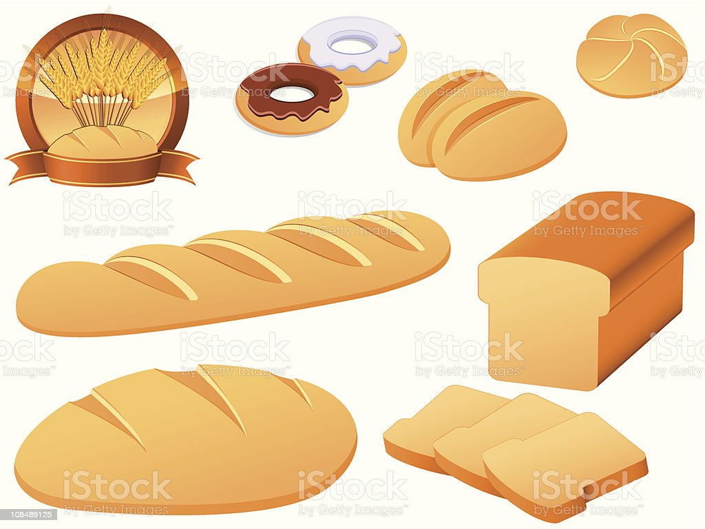 bakery icon set royalty-free stock vector art