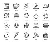 Bakery Icon Set - Thin Line Series