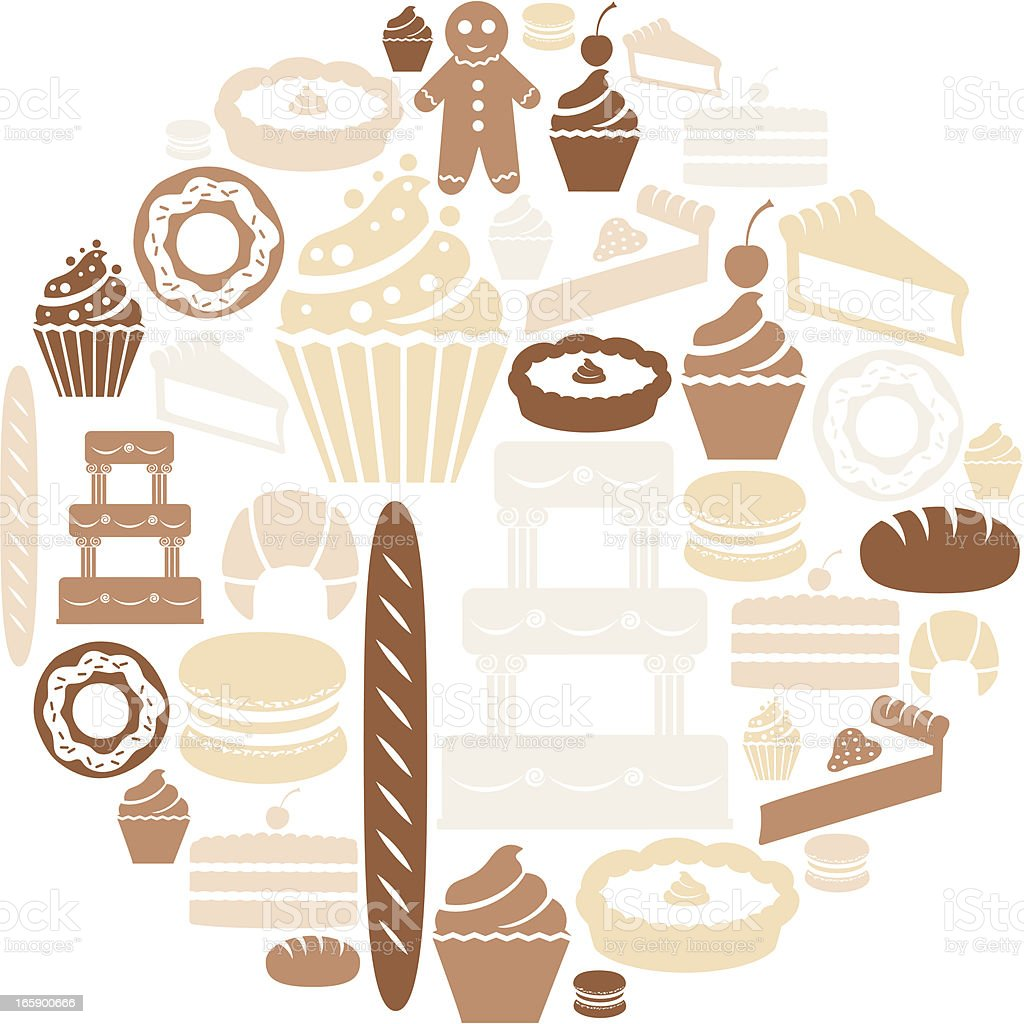 Bakery Icon Set royalty-free stock vector art