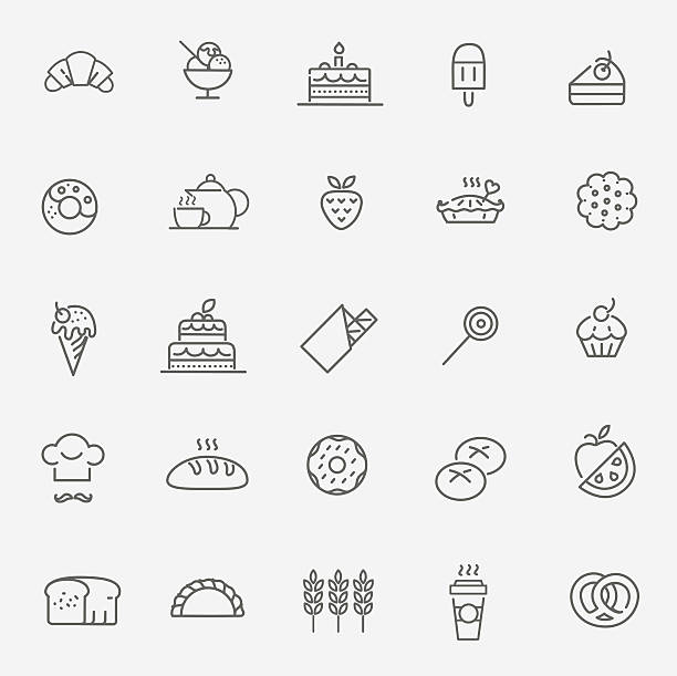 Bäckerei icon-set – Vektorgrafik