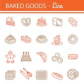 Bakery icon set.