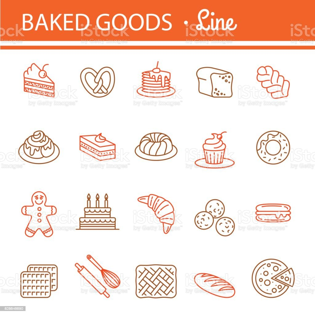 Bakery icon set. vector art illustration
