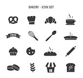 Vector of Bakery Icon Set