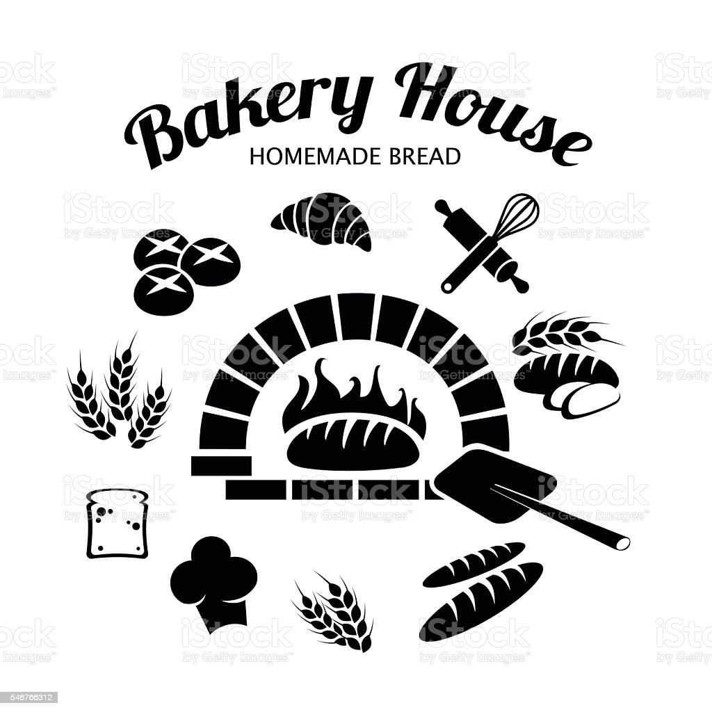 Bakery icon set vector illustration vector art illustration