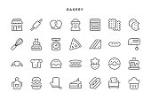 Bakery Icons - Vector EPS 10 File, Pixel Perfect 28 Icons.