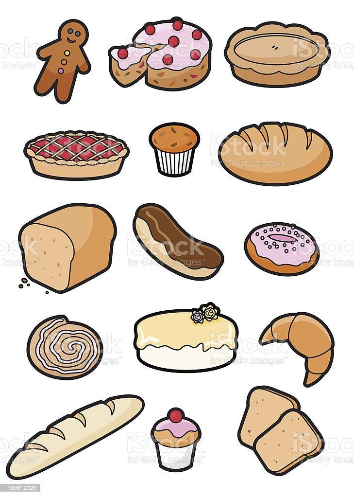 Bakery icons royalty-free stock vector art