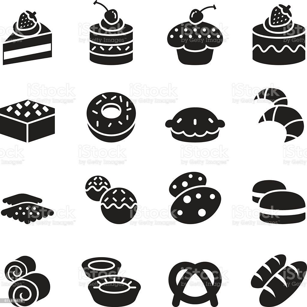 Bakery icons vector art illustration
