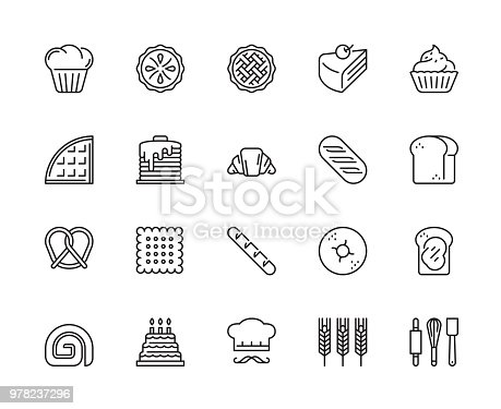 Restaurant, Bakery, Vector, Illustration, Modern Graphic and Pixel perfect