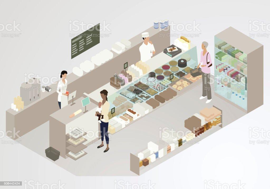 Bakery Illustration royalty-free bakery illustration stock vector art & more images of active seniors
