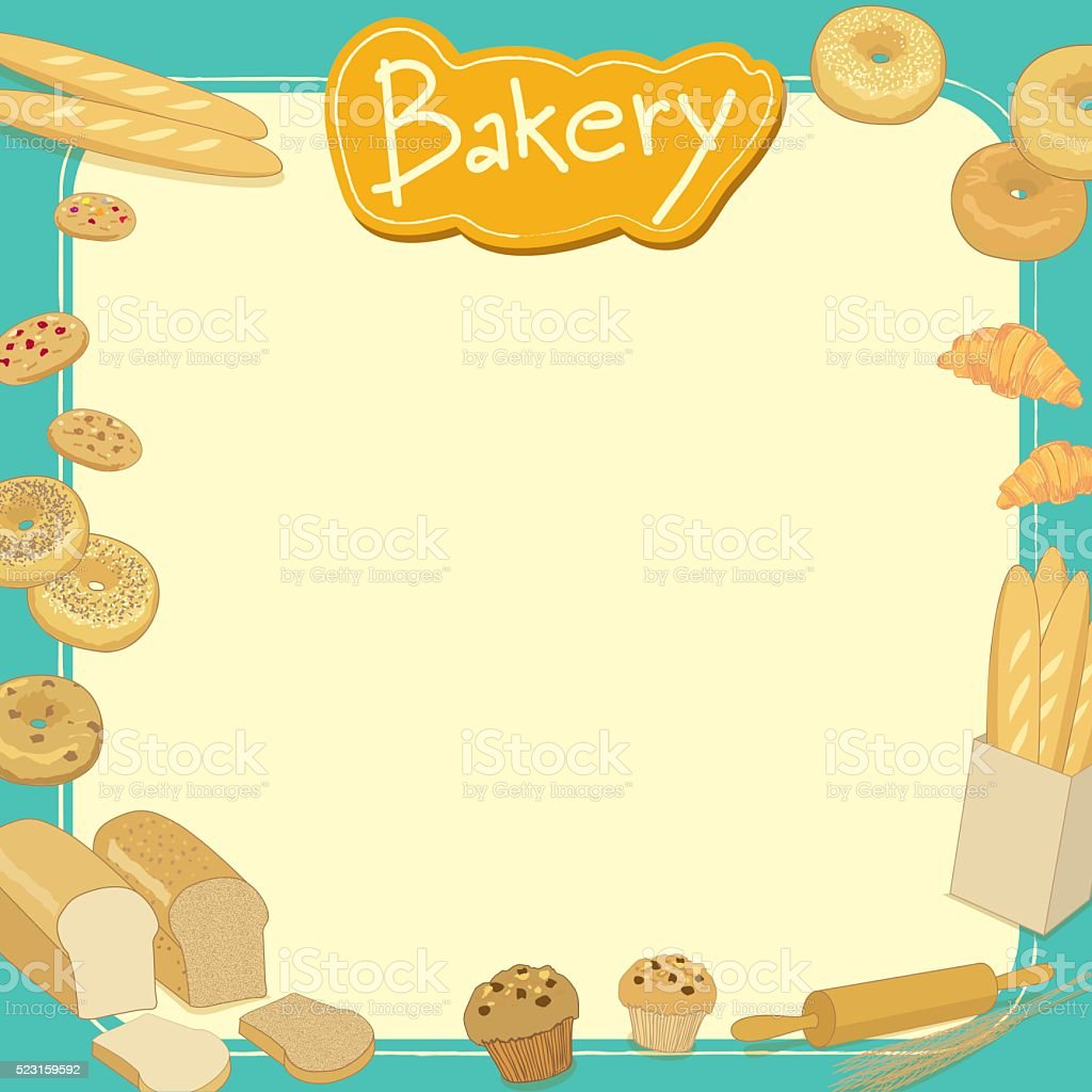 bakery menu template stock vector art more images of backgrounds rh istockphoto com Smiling Sun Clip Art Bagel Clip Art with Quotes