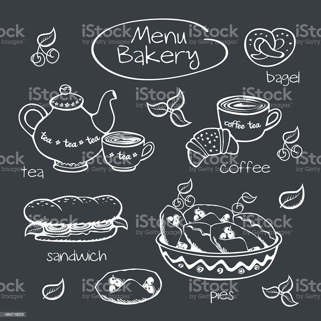 Carte Boulangerie.Boulangerie Carte Illustration Vectorielle Vecteurs Libres De Droits